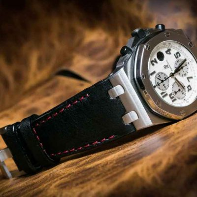 Horween Cowhide Leather Strap For Audemars Piguet Offshore Watch