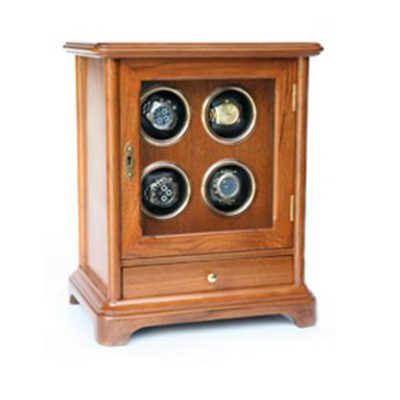 Clock + Storage Cabinet Automatic Watch for 4, Model CBN04