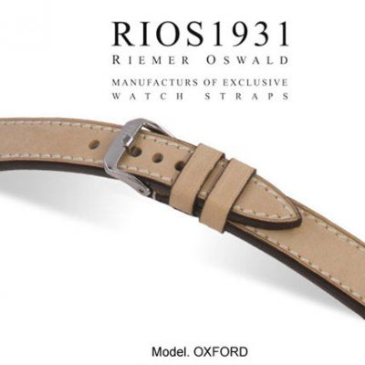 Rios Cowhide Leather Watch Strap Size 18-22 mm. Vintage Oxford Model
