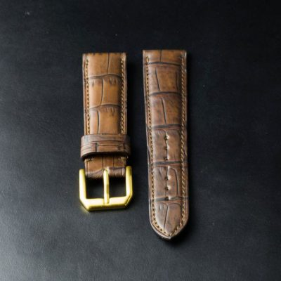 ABP PARIS - Louisiana Crocodile Leather Strap Waterproof STA05 Size 21 mm.
