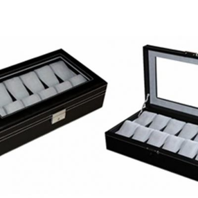 Premium wooden watch storage box Lined with Suede for the 12 watch.
