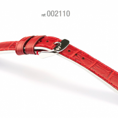 Campagnolo Red Crocodile Leather Strap 18-22 mm for Rolex omega seiko.