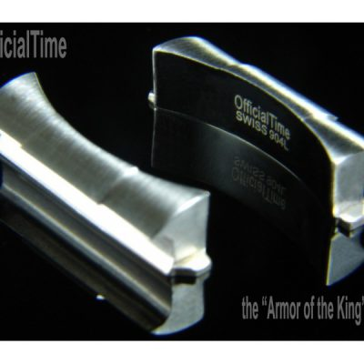 END LINK silver color closing the gap between the case and watch strap Made from materials used to make Rolex